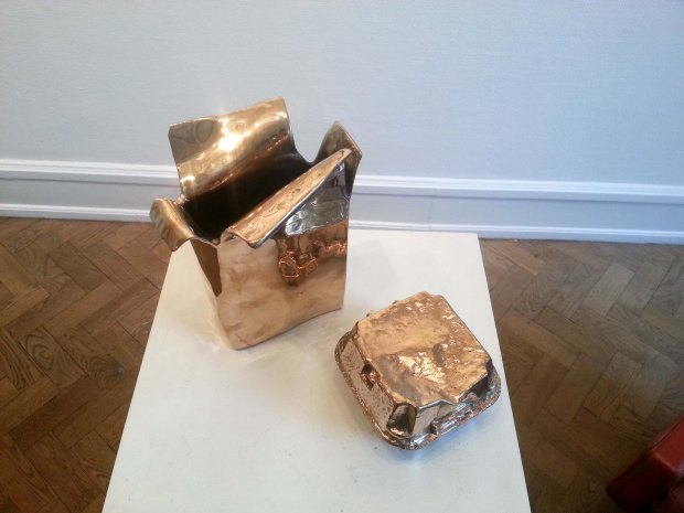 Lise Honoré food box bronze sculpture1